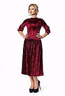 Нарядный женский костюм из бархата