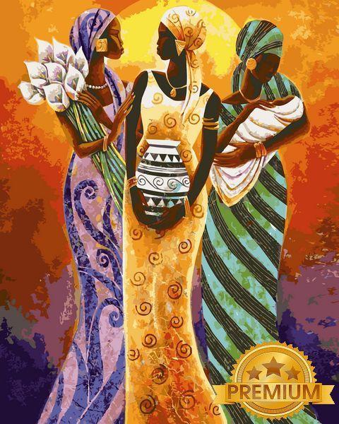 Картины по номерам 40×50 см. Babylon Premium (цветной холст + лак) Африканские мотивы Художник Маллет Кейт