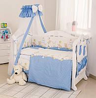 Детский постельный набор в кроватку Twins Comfort Медведи, 8 предметов