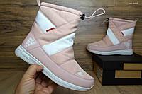 Женские сапоги Adidas розовые