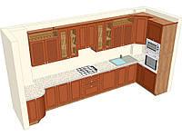 Угловая кухня из массива под заказ 4