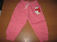 Детские теплые спортивные штанишки 3-х нитка с начесом для девочек 86-104 см  Турция