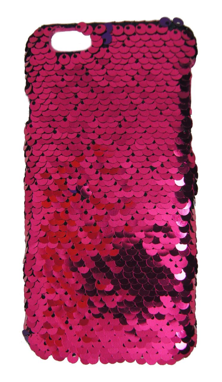 Плаcтиковый чехол для iPhone 6 / 6S Чешуйки Темно розовый