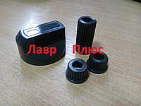 Ручка плиты универсальная (черная) + 3 переходника для плиты