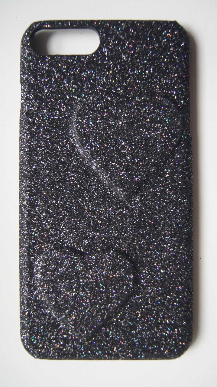 Пластиковый чехол для iPhone 7 Plus / 8 Plus Black с серцами