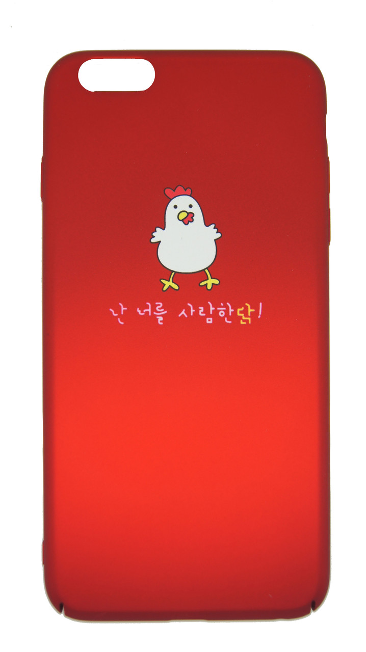 Пластиковый чехол для iPhone 6 Plus / 6S Plus Soft touch Красный