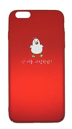 Пластиковый чехол для iPhone 6 Plus / 6S Plus Soft touch Красный, фото 2