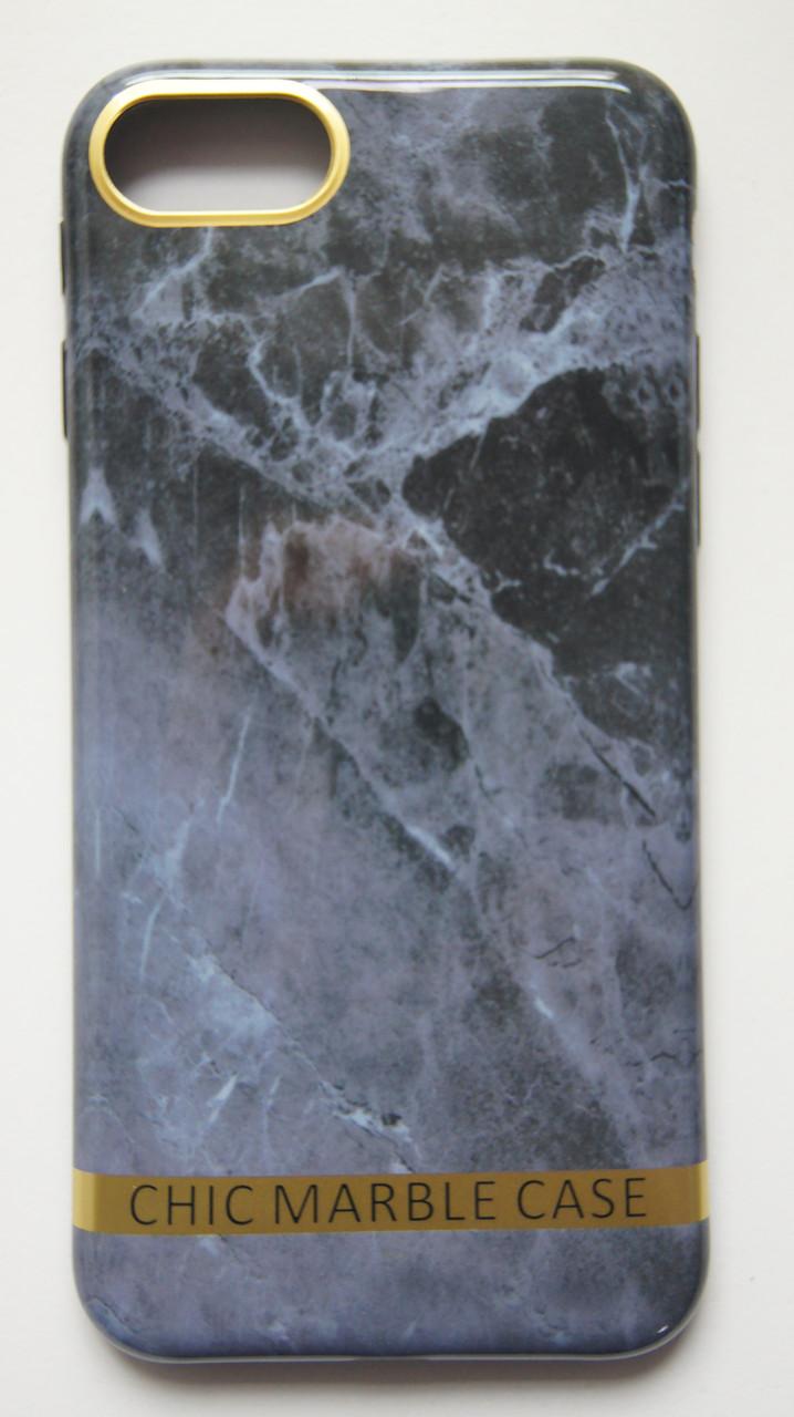 Чехол силиконовый Chic marble case для iPhone 7 / 8 серый мрамор