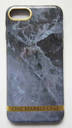 Чехол силиконовый Chic marble case для iPhone 7 / 8 серый мрамор, фото 2