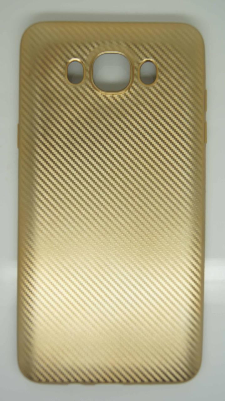 Силиконовый чехол Biboshi для Samsung J7 (2016) Gold