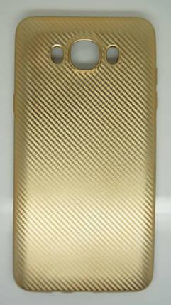 Силиконовый чехол Biboshi для Samsung J7 (2016) Gold, фото 2
