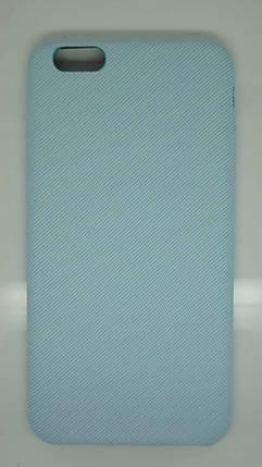 Чехол для iPhone 6 Plus / 6S Plus Голубой под ткань, фото 2