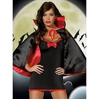 """Тематический костюм """"Вампирша"""", костюм для маскарада, карнавала: платье и накидка. Размер 42-46."""