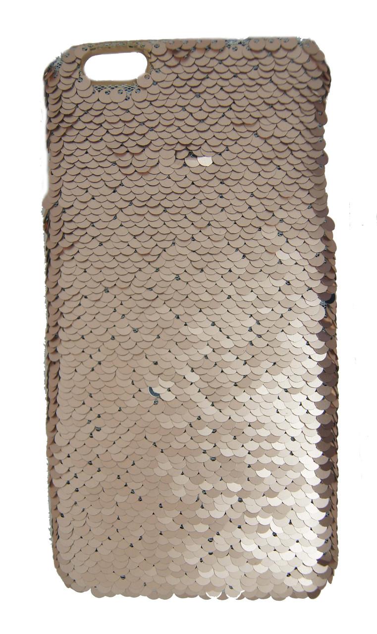 Плаcтиковый чехол для iPhone 6 Plus / 6S Plus Чешуйки Золотой