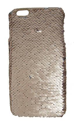 Плаcтиковый чехол для iPhone 6 Plus / 6S Plus Чешуйки Золотой, фото 2