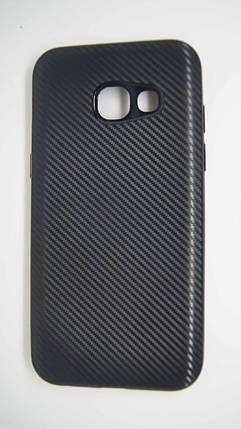 Силиконовый чехол Biboshi для Samsung A320 Black, фото 2