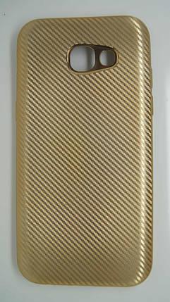 Силиконовый чехол Biboshi для Samsung A520 Gold, фото 2