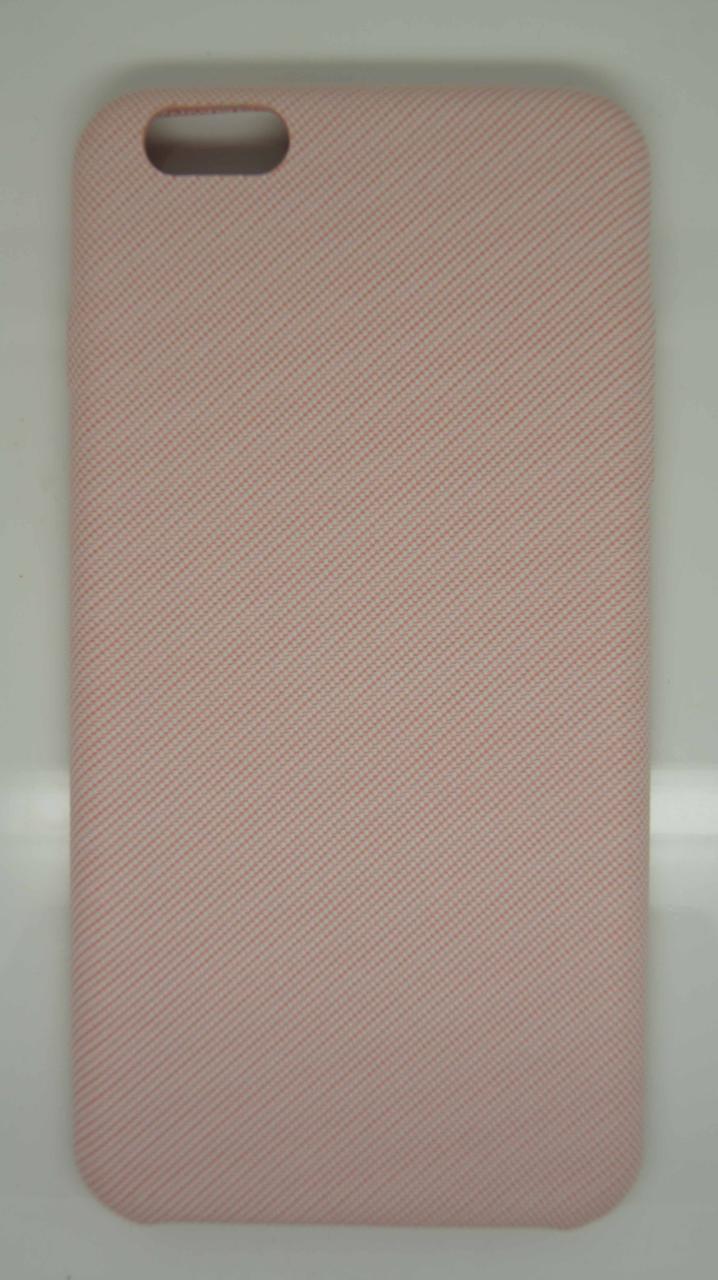 Чехол для iPhone 6 Plus / 6S Plus Розовый под ткань