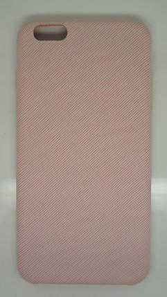 Чехол для iPhone 6 Plus / 6S Plus Розовый под ткань, фото 2