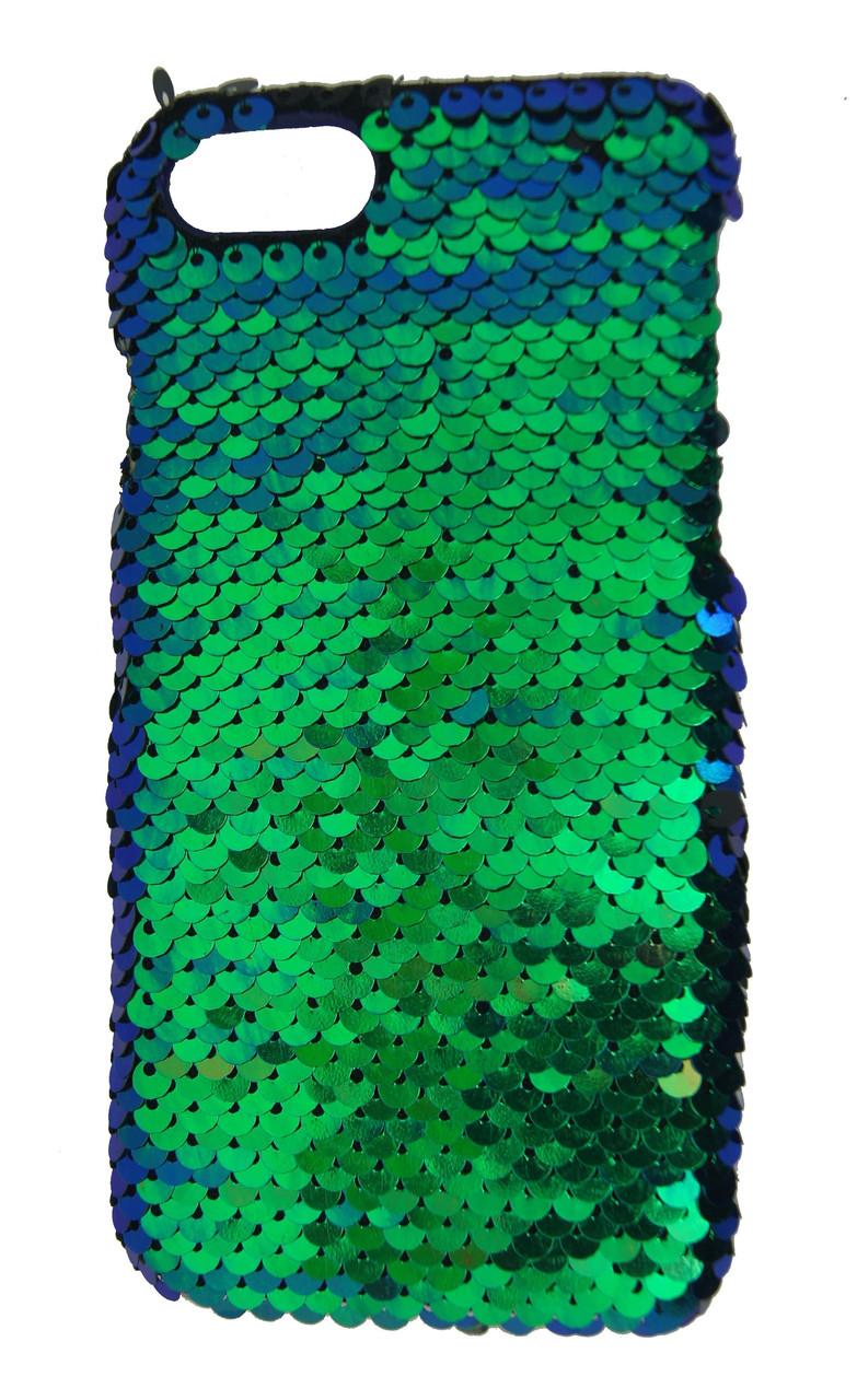 Плаcтиковый чехол для iPhone 7 / 8 Чешуйки Зеленый