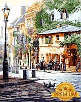 Картины по номерам 40×50 см. Babylon Premium Италия Летнее кафе, фото 1