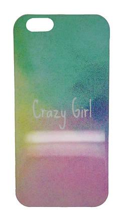 Пластиковый чехол для iPhone 6 / 6S Crazy Girl разноцветный, фото 2