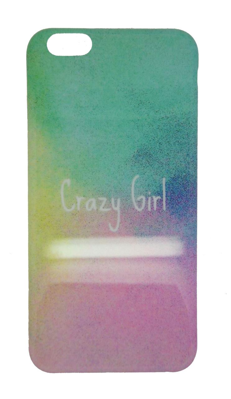 Пластиковый чехол для iPhone 6 Plus / 6S Plus Crazy Girl разноцветный