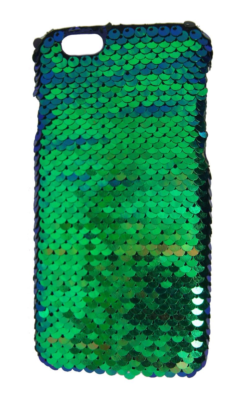 Плаcтиковый чехол для iPhone 6 / 6S Чешуйки Зеленый