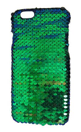 Плаcтиковый чехол для iPhone 6 / 6S Чешуйки Зеленый, фото 2