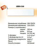 Инфракрасный обогреватель УДЭН-300 настенный