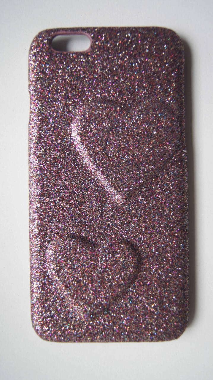 Пластиковый чехол для iPhone 6 / 6S Сиреневый с сердцами