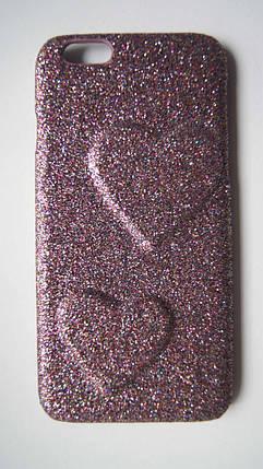 Пластиковый чехол для iPhone 6 / 6S Сиреневый с сердцами, фото 2