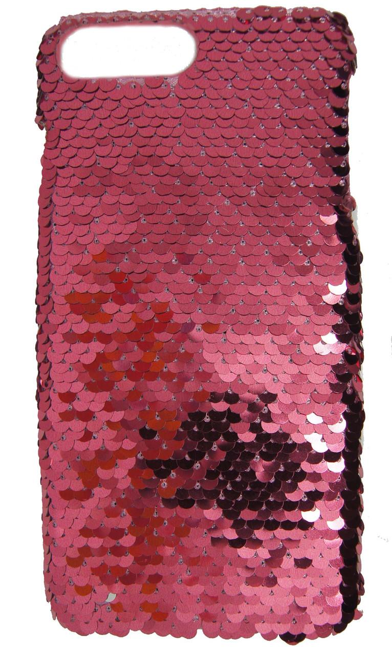 Пластиковый чехол для  iPhone 7 Plus / 8 Plus Чешуйки Розовый