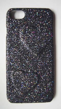 Пластиковый чехол для iPhone 7 / 8 Black с сердцами, фото 2