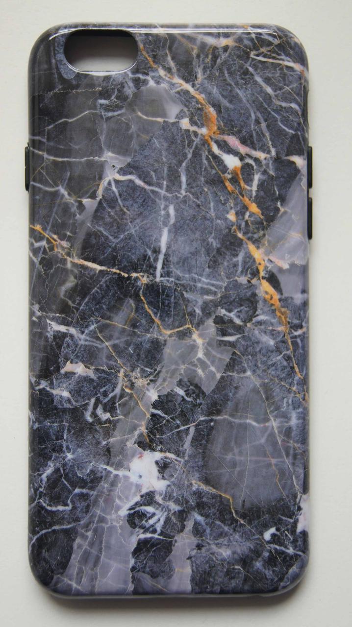 Силиконовый чехол для iPhone 6 / 6S серый мрамор