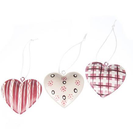 """Комплект елочных игрушек """" Три сердца """", фото 2"""