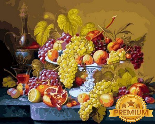 Картины по номерам 40×50 см. Babylon Premium Роскошный виноград
