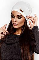 Жіноча осіння біла шапка з ангори Ella