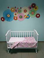 """Детское постельное белье 3 в 1 """"Цветочки на лугу"""""""