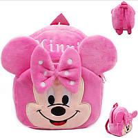 Детский рюкзак для девочек дошкольного возраста, розовый Минни Маус