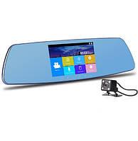 Сенсорное зеркало видео-регистратор с камерой заднего вида. С 5.0 дюймовым экраном