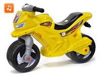 Мотоцикл детский беговел музыкальный Желтый