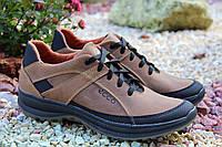 Стильные мужские кроссовки ECCO натур кожа, фото 1