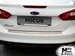 Накладка на бампер Premium Ford Focus III 4D 2011-