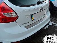 Накладка на бампер Premium Ford Focus III 5D 2011-