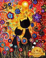 Картины по номерам 40×50 см. Babylon Premium (цветной холст + лак) Двое влюбленных