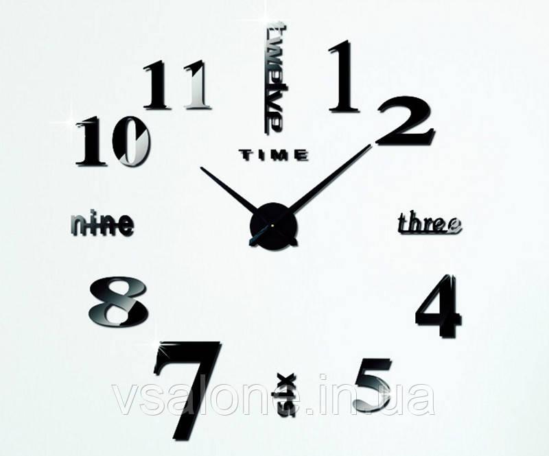 Декоративные настенные часы Travel black (D=1м)
