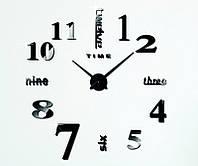 Декоративные настенные часы Travel black (D=1м), фото 1
