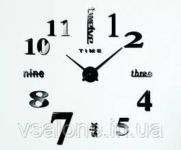 Декоративні настінні годинники Travel black (D=1м)