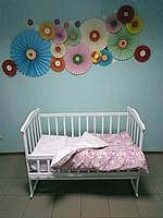 """Детское постельное белье """"Цветочки на лугу"""", (резинка, молния)"""